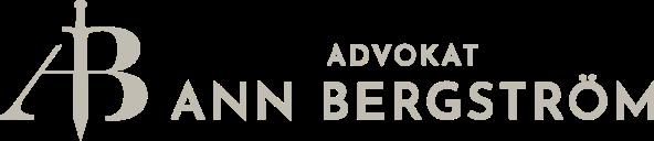 Advokat Ann Bergström logga